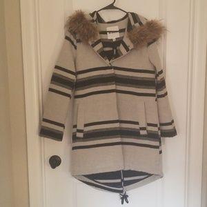 Long coat with furry hood